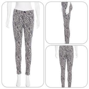 J Brand Mid-Rise Womens Zebra Skinny Stretch Jeans